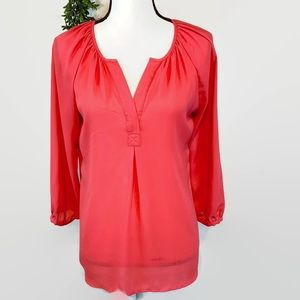 Violet + Claire Pink Coral Blouse